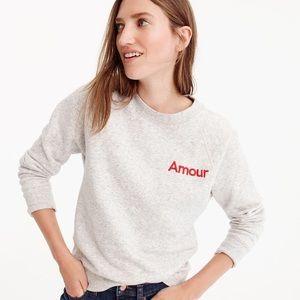 J.crew amour grey sweatshirt